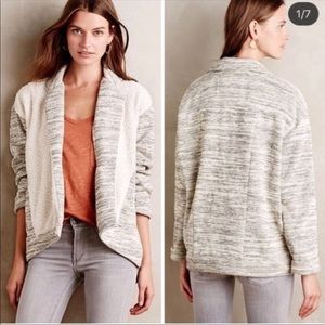 Saturday Sunday gray and cream sweater cardigan.